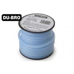 DUB897 Durite pour mélange nitro - X-Large Flux - 7.2 x 4mm - 7.6m (25 ft) - bleu