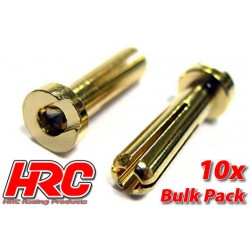 HRC9004LB Connecteur - Gold - TSW Pro Racing - 4.0mm – mâle Low Profile (10 pces)