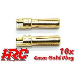 HRC9004M Connecteur - Gold - 4.0mm – mâle (10 pces)