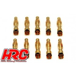 HRC9004S Connecteur - Gold - 4.0mm - Stripe Style – mâle (10 pces)