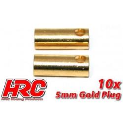 HRC9005F Connecteur - Gold - 5.0mm - femelle (10 pces)