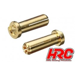 HRC9005L Connecteur - Gold - TSW Pro Racing - 5.0mm – mâle Low Profile (2 pces)
