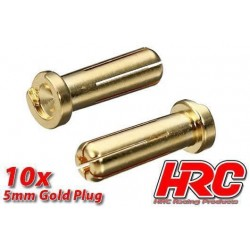 HRC9005LB Connecteur - Gold - TSW Pro Racing - 5.0mm – mâle Low Profile (10 pces)