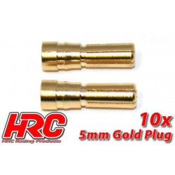 HRC9005M Connecteur - Gold - 5.0mm – mâle (10 pces)