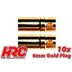 HRC9006F Connecteur - Gold - 6.0mm - femelle (10 pces)