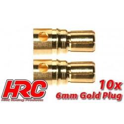 HRC9006M Connecteur - Gold - 6.0mm – mâle (10 pces)