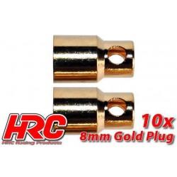HRC9008F Connecteur - Gold - 8.0mm - femelle (10 pces)