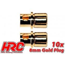 HRC9008M Connecteur - Gold - 8.0mm – mâle (10 pces)