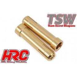 HRC9016A Connecteur - Gold - TSW Pro Racing - Tube réducteur - 5.0mm à 4.0mm (2 pces)