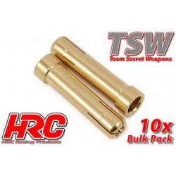 HRC9016B Connecteur - Gold - TSW Pro Racing - Tube réducteur - 5.0mm à 4.0mm (10 pces)