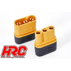 HRC9020P Connecteur - Gold - MR30 Triple - 1 paire (1 male & 1 female)