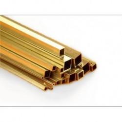 KS9854 Tube LAITON carré 6 x 0,45 x 300 mm )(2