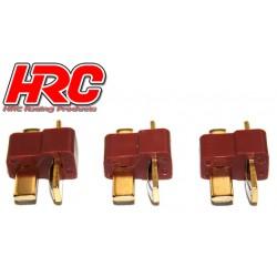 HRC9031A Connecteur - Gold - Ultra T – mâle (3 pces)