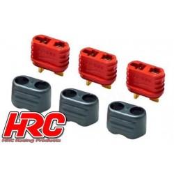 HRC9032P Connecteur - Gold - Ultra T avec protection - femelle (3 pces)