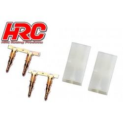 HRC9061A Connecteur - Gold - Tamiya femelle (2 pces)