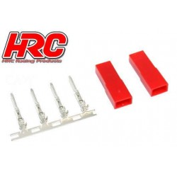 HRC9077F Connecteur - JST / BEC femelle (2 pces)