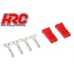 HRC9077M Connecteur - JST / BEC mâle (2 pces)