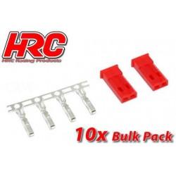 HRC9077MB Connecteur - JST / BEC mâle (10 pces)