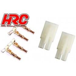 HRC9084A Connecteur - Tamiya mâle gold (2 pces)