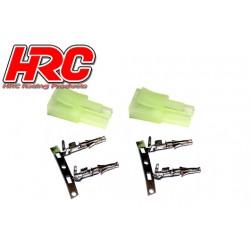 HRC9088A Connecteur - Mini Tamiya mâle (2 pces)