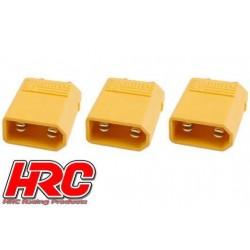 HRC9090A Connecteur - Gold - XT30 – mâle (3 pces)