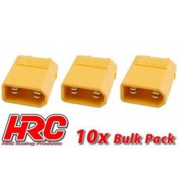 HRC9090B Connecteur - Gold - XT30 – mâle (10 pces)