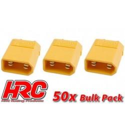HRC9090C Connecteur - Gold - XT30 – mâle (50 pces)