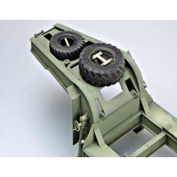 LR-T3104SB Louise RC - B-TURBO - 1-8 Ensemble de pneu Buggy - Monté - Doux - Jantes à rayons noirs - Hex 17mm - 1 paire