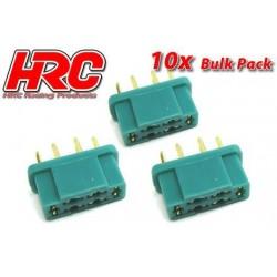 HRC9093B Connecteur - Gold - MPX - femelle (10 pces)