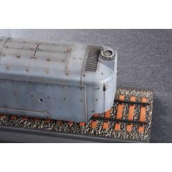 """LR-T3201SCH Louise RC - MT-ROCKET - 1-10 Monster Truck Tire Set - Monté - Soft - Chrome 2.8 """"Jantes"""