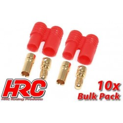 Entretoises alu M3 rouges 0.5, 0.75, 1, 2, 3, 5mm (4 de chaque)