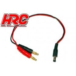 HRC9102F Câble de charge – doré - Prise Banane Futaba Radio