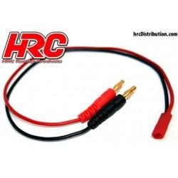 HRC9117 Câble de charge – doré - Prise Banane BEC JST
