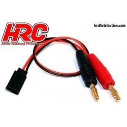 HRC9118 Câble de charge – doré - Prise Banane Prise JR Universelle d'accu de réception
