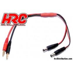HRC9122 Câble de charge – doré - Prise Banane Emetteur Futaba / Hitec