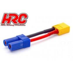HRC9134P Adaptateur - Prise EC5 Prise accu XT60