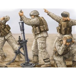 TRU00423 TRUMPETER USMC M252 Mortar Cr. 1/35