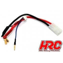 HRC9151 Câble Charge & Drive - Prise Gold 4mm prise Tamiya & Balancer