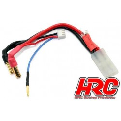 HRC9152SL Câble Charge & Drive avec Polarity Check LED - Prise Gold 5mm prise Tamiya & Balancer