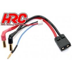 HRC9152T Câble Charge & Drive - Prise Gold 5mm prise TRX & Balancer