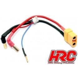 HRC9152X Câble Charge & Drive - Prise Gold 5mm prise XT90 & Balancer