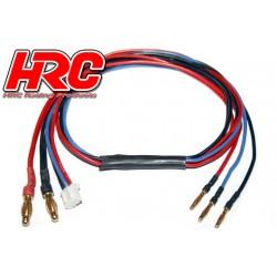 HRC9156 Câble de charge - TSW Pro Racing - Prise Gold 4mm prise 2mm & Balancer JST pour accu Hardcase