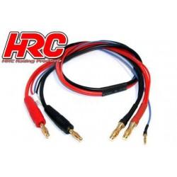 HRC9159 Câble de charge - TSW Pro Racing - Prise Gold 4mm prise 5mm & Balancer JST pour accu Hardcase