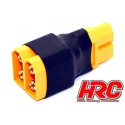 HRC9181C Adaptateur - pour 2 Accus en Parallèle - Version Compacte - Prise XT60