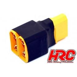 HRC9182C Adaptateur - pour 2 Accus en Parallèle - Version Compacte - Prise XT90