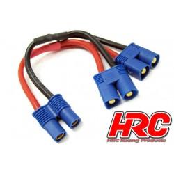 HRC9183A Adaptateur - pour 2 Accus en Parallèle – Câble 14AWG - Prise EC3