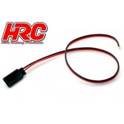 HRC9207 Câble de servo - UNI (FUT & JR) type contre-fiche - 30cm Long