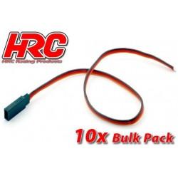 HRC9217B Câble de servo - JR type contre-fiche - 30cm Long - BULK 10 pces