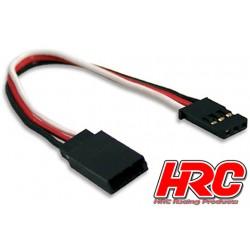 HRC9230 Prolongateur de servo - Mâle/Femelle - UNI (FUT & JR) type - 10cm Long