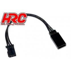 HRC9230K Prolongateur de servo – Mâle/Femelle - UNI (FUT) type - 10cm Long – Noir/Noir/Noir